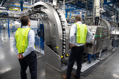 Ball Corporation| aluminum can manufacturing product line facility interior