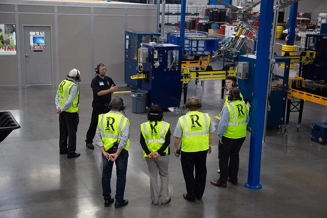 Ball Corporation | aluminum can manufacturing product line facility interior