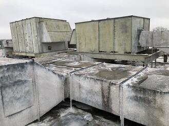Rooftop AHU and ductwork
