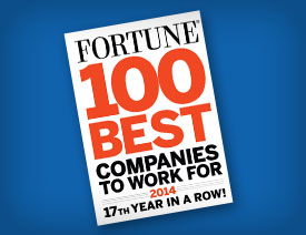 17th Consecutive year of being on Fortune magazine