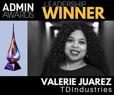 Image for TDIndustries' Valerie Juarez Receives Admin Award in Leadership