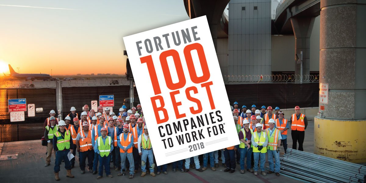 """Image for TDIndustries Named to the 2018 Fortune """"100 Best Companies to Work For List®"""""""